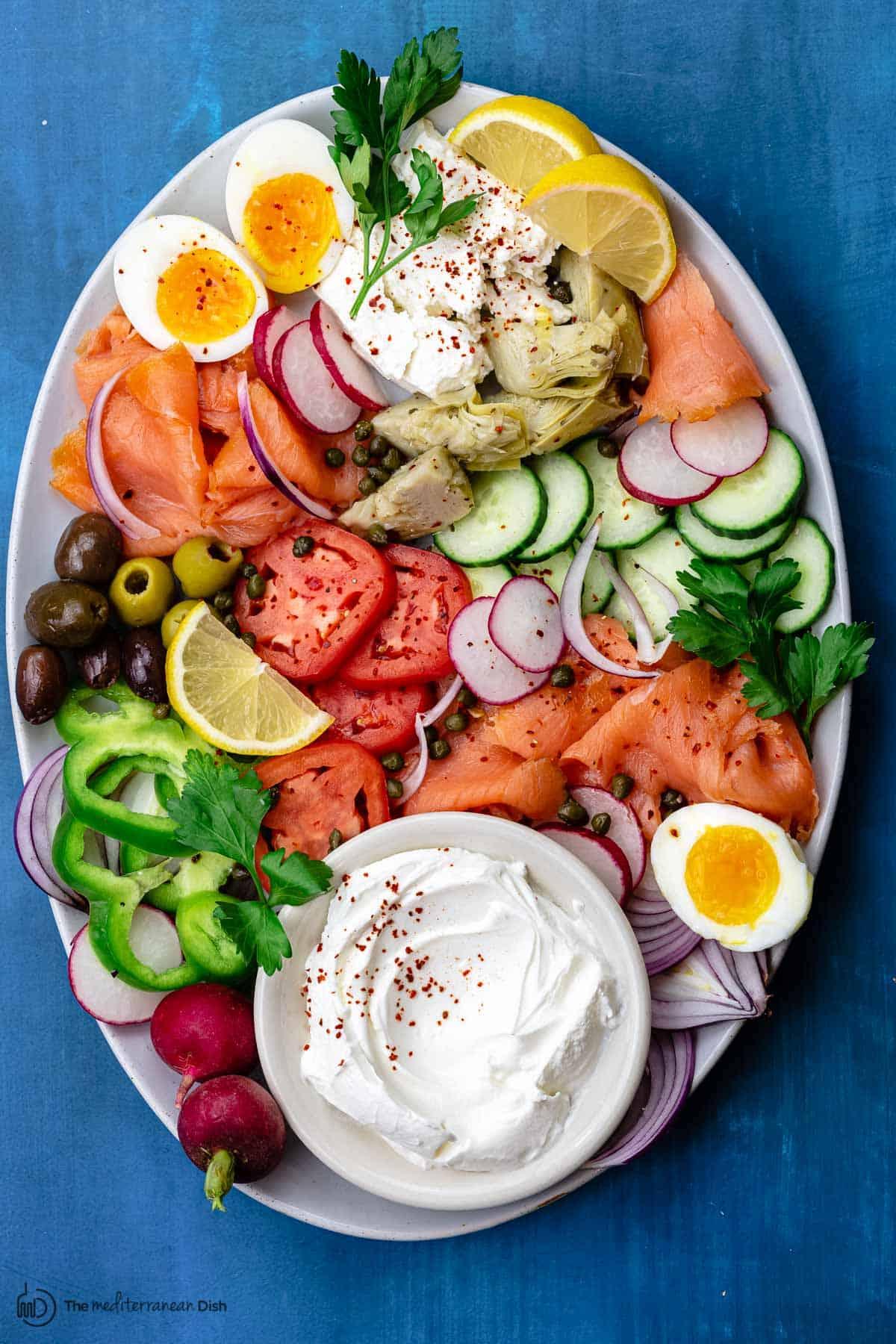 Easy Smoked Salmon Platter The Mediterranean Dish
