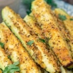 Pin image 2 for baked zucchini sticks