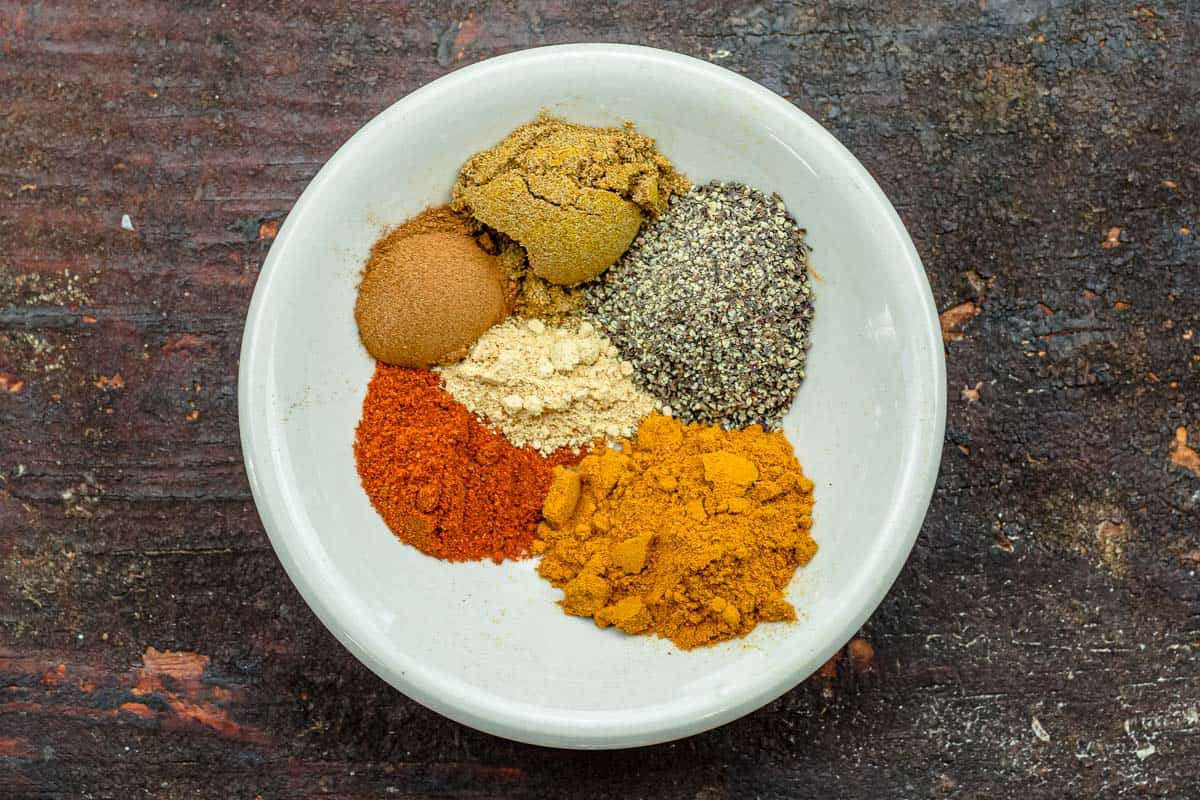 spices for moroccan lentil and chickpea soup