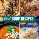 pin image 1. A collection of best soup recipes from The Mediterranean Dish