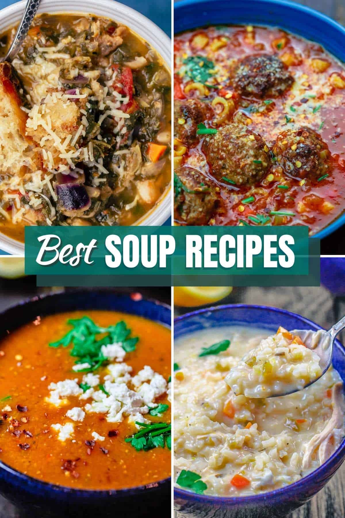 collection of best soup recipes from The Mediterranean Dish