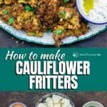 pin image 1 for how to make cauliflower fritters