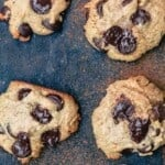 pin image 1 for tahini cookies with chocolate chips