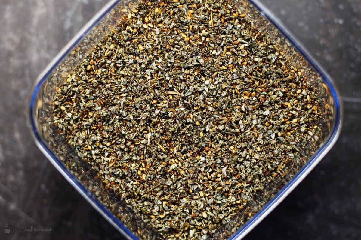 za'atar seasoning in a jar