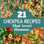 pinable image for 21 chickpea recipes