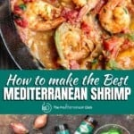 pin image 1 for Mediterranean garlic shrimp recipe