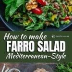 pinable image 1 for farro salad recipe