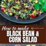 pinable image 1 for how to make black bean and corn salad