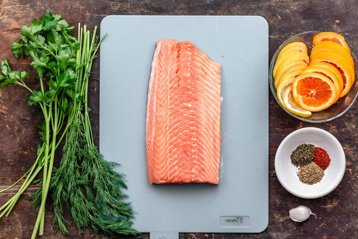 Ingredients for citrus salmon recipes