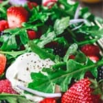 pinable image 1 for berry salad with arugula and burrata