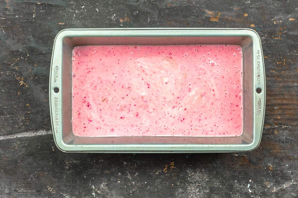yogurt mixture before placing in freezer