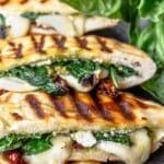 pinable image 2 grilled mozzarella sandwich