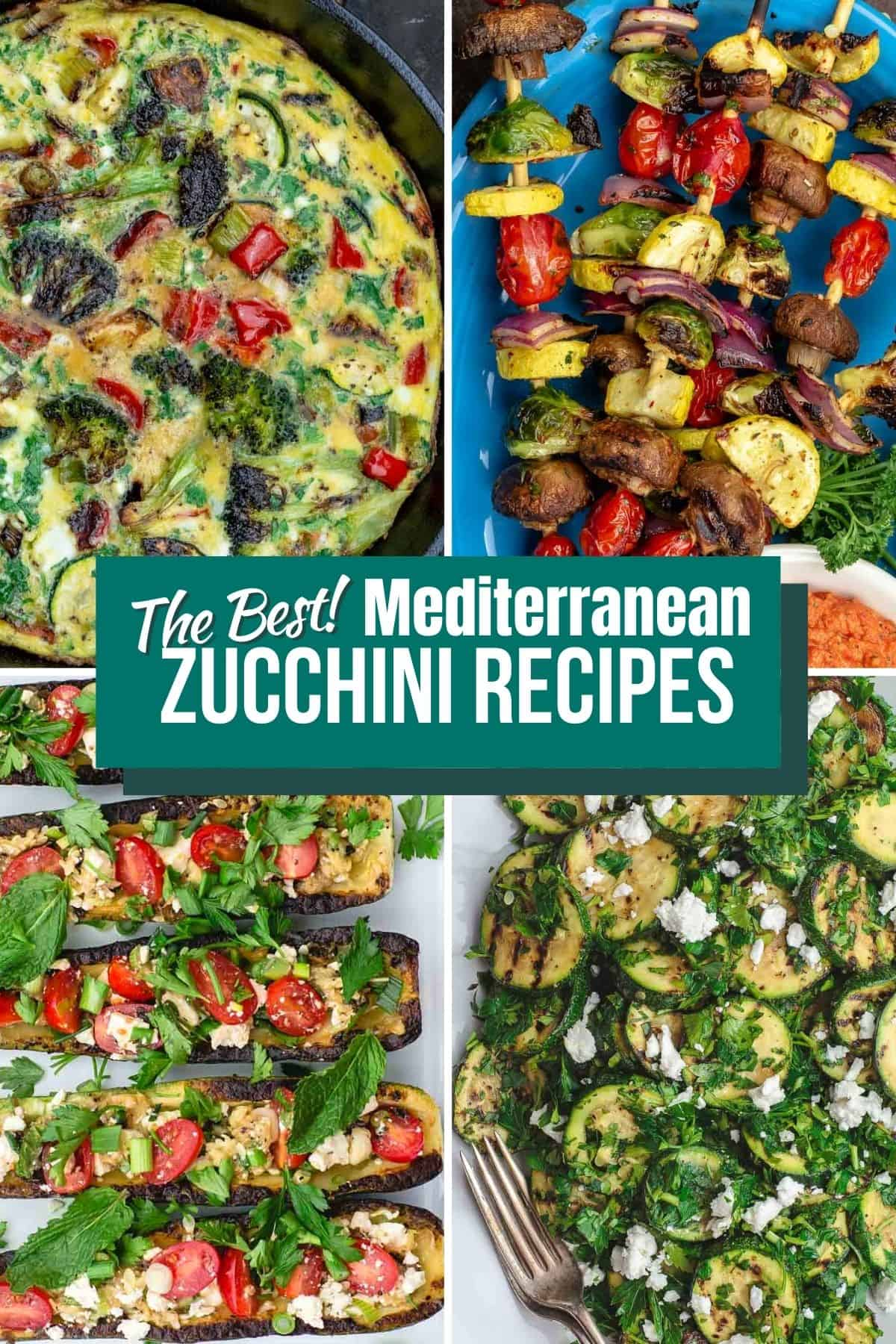 A selection of zucchini recipe photos from The Mediterranean Dish