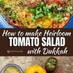 pin image 1 for fresh heirloom tomato salad with dukkah