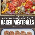 pin image 3 for how to make the best baked meatballs