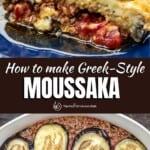 pin image 1 for Greek moussaka recipe